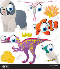 vector cute comic cartoon animals vector u0026 photo bigstock