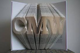 paper anniversary gift folded book paper paper anniversary gift for him or
