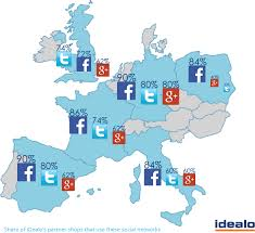 France Germany Map by Facebook Not Popular With Uk Retailers