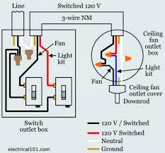 fan and light switch wiring brilliant wiring diagram for ceiling fan with light creativity