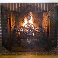 fireplace peacock fireplace screen fire screen home depot