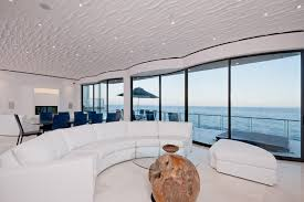 Living Room Ideas With White Leather Sofa Fantastic Oceanfront Living Rooms Design With Half Round White