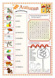 autumn worksheet free esl printable worksheets made by teachers