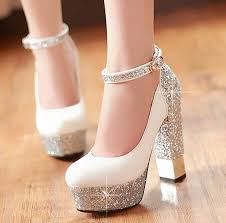 wedding shoes thick heel wholesale 2015 women sole ankle high heels sequins thick