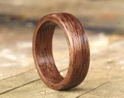Wood Wedding Rings by Wood Engagement Ring Etsy