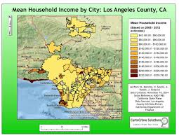 Los Angeles Zip Codes Map by Crime Analysis Matt Marotta Gis Professional
