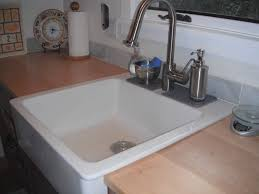 Drop In Kitchen Sinks Choose Sleek And Shiny Texture Drop In Farmhouse Sink For Your