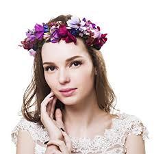hair wreath flower crown bridal headpiece wedding hair wreath rustic