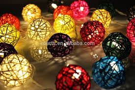 custom led string lights purple tone globe led cotton ball string light for christmas outdoor