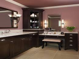 bathroom idea featured zebra runner area rug and double vanities