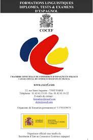 chambre de commerce espagnole en formations linguistiques diplomes tests examens d espagnol cocef
