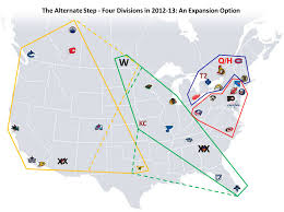 Nhl Map That Nhl Reorganization Question Part Ii The Oga Blogs