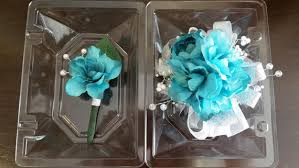 turquoise corsage wrist corsage turquoise blue wrist corsage and matching