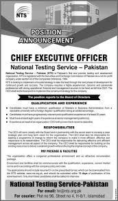 Executive Officer Resume Nts Jobs 2017 National Testing Service Pakistan Jobs For Chief