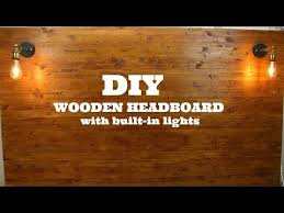 diy wooden headboard with built in lights youtube