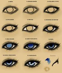 viewing gallery for eye drawing tutorial step by step