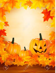 autumn halloween background pumpkin background with leaves halloween background royalty free
