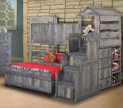 Bunk Bed With Twin Over Full by Solid Ponderosa Pine Twin Over Full Loft Bed With Stairway Chest