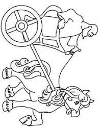 horse and chariot clip art sketch coloring page