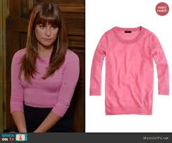 tippi sweater wornontv s pink sweater and black floppy hat on glee lea
