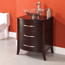 Red Bathroom Cabinets 18 Inch Depth Bathroom Vanity Wayfair