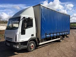 iveco eurocargo 75e17 curtain side truck with tail lift mot july