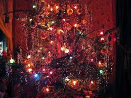 christmas old fashionedmas tree 1940s style bubble lights