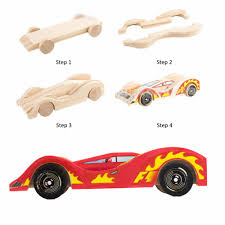 online shop yixin diy unfinished wood car craft early education