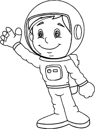astronaut boy coloring page wecoloringpage