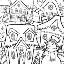 winter coloring pages adults archives mente beta complete