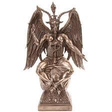 baphomet horned god goat skull ritual goblet satanic ritual chalice baphomet large bronze 15 inch statue