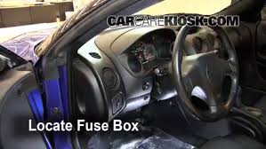 interior fuse box location 2000 2005 mitsubishi eclipse 2001