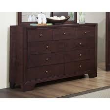 Dark Brown Changing Table by 437 00 Kari Dresser In Dark Merlot Finish D2d Furniture Store