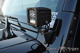 best road lights for jeep wrangler poison spyder lower a pillar light mounts jkowners com jeep