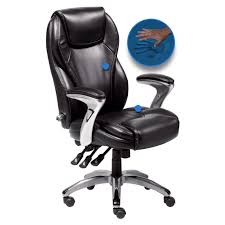 Blue Leather Executive Office Chair Serta Bonded Leather Ergo Executive Office Chair Black Hayneedle