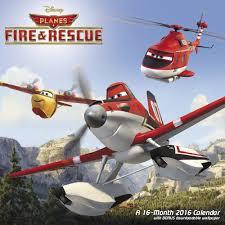 disney planes fire u0026 rescue wall calendar 2016 dream