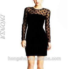 latest sleeves with polka dots design black velvet designer
