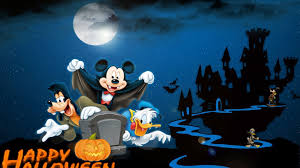 1920x1080 halloween background mickey mouse gofy and donald duck happy halloween backgrounds