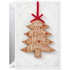 happiest holidays card with removable ornament