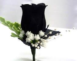 Mens Boutineer Black Boutonniere Etsy