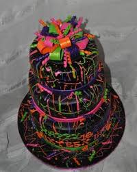 lots of ideas esp sheet cakes fun funky neon cake by dmr217
