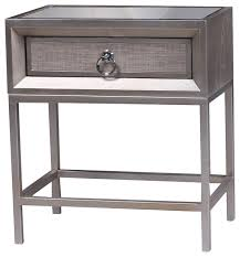 cassidy 1 drawer nightstand transitional nightstands and