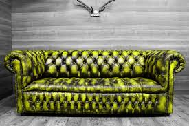 green leather chesterfield sofa modern chesterfield sofa new leathers yellow turquoise pink orange