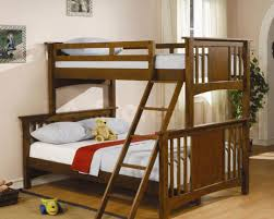 futon dark lacquered mahogany loft bed which equipped with twin