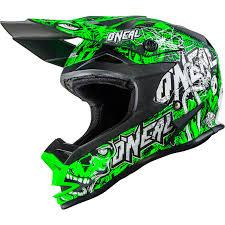 green motocross gear oneal 7 series evo menace neon green motocross helmet sport race