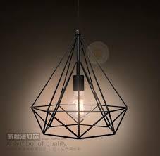 Black Diamond Lights Vintage Industrial Black Diamond Pendant Light Retro Art Deco