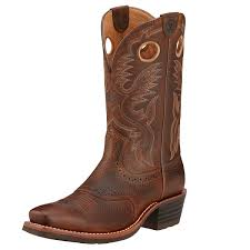 ariat heritage roughstock mens western boot brown oiled rowdy