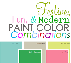 paint color combinations festive fun and modern u2013 my colortopia