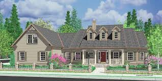one level house plans with porch colonial house plans dormers bonus room garage single level