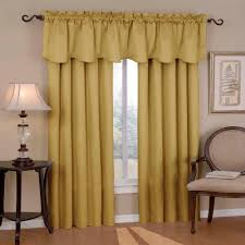 eclipse canova blackout gold polyester curtain valance 21 in